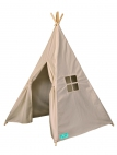 Tipi tent taupe canvas